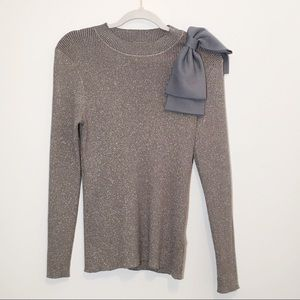Ted Baker Glittery Detachable Bow Sweater 8